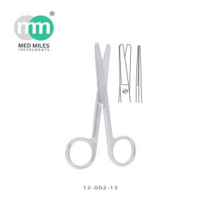STANDARD OPERATING SCISSORS STRAIGHT BLUNT/BLUNT 13 CM